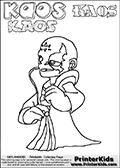 Skylanders Swap Force - Kaos - Coloring Page 36 THICK LINE