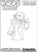 Skylanders Swap Force - Kaos - Coloring Page 37 Super Thin Line