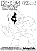 Skylanders Swap Force - Kaos - Coloring Page 43 Super Thin Line
