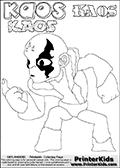 Skylanders Swap Force - Kaos - Coloring Page 44 Editors Choice
