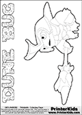 Skylanders Swap Force coloring page the non swap able inect-like figure DUNE BUG from the MAGIC ELEMENT. In this printable sheet, DUNE BUG is drawn standing with a staff pointed forward - ready for some battle action. Print and color this Skylanders Swap Force DUNE BUG coloring sheet for kids that is drawn and made available by Loke Hansen (http://www.LokeHansen.com) based on an image from the Skylanders Swap Force game. This DUNE BUG coloring sheet may look different than the official figure drawings. This is because the kids printable is made based on how the DUNE BUG actually looks in the game and not on a poster. The kids coloring page is the easy to color for younger fans because of the thick outer line applied to the colorable Skylanders Swap Force Dune Bug figure. Be sure to check the other variants of this coloring page for more stroke (the line used to draw DUNE BUG with) options.