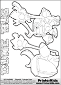Skylanders Swap Force coloring page with a group of Dune Bug Skylanders. This Dune Bug kids coloring page has two colorable Dune Bug figures, one is shown from the front and the other from the back. Print and color this Skylanders Swap Force DUNE BUG coloring sheet for kids that is drawn and made available by Loke Hansen (http://www.LokeHansen.com) based on images from the official Skylanders Swap Force website and the Skylanders Swap Force Game.