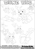 Skylanders Swap Force - DUNE BUG GROUP (Ready For Action) - Coloring Page 1 Editors Choice