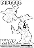Skylanders Swap Force - DUNE BUG Vs KAOS (Ready For Action) - Coloring Page 8 Editors Choice