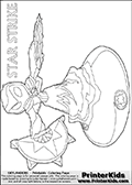 Skylanders Swap Force - STAR STRIKE Magic Attack (Wide View) - Coloring Page 3