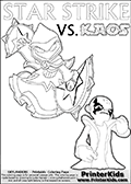 Skylanders Swap Force - KAOS... REVENGE...   | LIGHT CORE STAR STRIKE DETAILED  - Coloring Page
