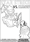 Skylanders Swap Force - KAOS TRAPPED!    | LIGHT CORE STAR STRIKE DETAILED  - Coloring Page