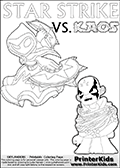 Skylanders Swap Force - KAOS TRAPPED!    | STAR STRIKE DETAILED   - Coloring Page