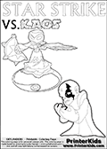 Skylanders Swap Force - STAR STRIKE  VS. KAOS Magic Attack - Coloring Page
