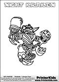 Skylanders Swap Force - NIGHT KRAKEN - Coloring Page 3