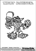 Skylanders Swap Force - NIGHT ROUSER - Coloring Page 3