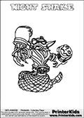 Skylanders Swap Force - NIGHT SHAKE - Coloring Page 3