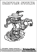 Skylanders Swap Force - RATTLE STONE - Coloring Page 3