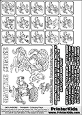 Printable Skylanders Swap Force coloring page for kids with all 16 combinations of Skylanders made with the RATTLE upper part. Most of the skylanders coloring figures are relatively small - but the printable colouring sheet is really fun nonetheless. Print and color this Skylanders Swap Force MASTERS RATTLE SWAP coloring print page that is drawn and made available by Loke Hansen (http://www.LokeHansen.com) based on the original artwork of the Skylanders characters from the Skylanders Swap Force website. This coloring page variant was originally designed as a coloring page section teaser for the PrinterKids website - but my own kids just loved it so much I turned it into a coloring page others could print as well! The Skylanders combinations show here for coloring are: RATTLE ZONE, RATTLE JET, RATTLE STONE, RATTLE KRAKEN, RATTLE RANGER, RATTLE BLADE, RATTLE DRILLA, RATTLE LOOP, RATTLE CHARGE, RATTLE SHIFT, RATTLE SHAKE, RATTLE ROUSER, RATTLE RISE, RATTLE BOMB, RATTLE SHADOW and RATTLE BUCKLER.
