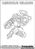 Skylanders Swap Force - RUBBLE BLADE - Coloring Page 1