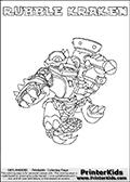 Skylanders Swap Force - RUBBLE KRAKEN - Coloring Page 2