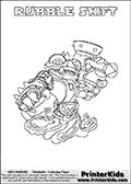 Skylanders Swap Force - RUBBLE SHIFT - Coloring Page 2