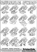 Skylanders Swap Force - RUBBLE SWAP - Coloring Page 2 EDITORS CHOICE