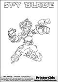 Skylanders Swap Force - SPY BLADE - Coloring Page 1