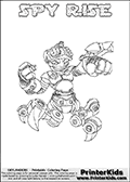 Skylanders Swap Force - SPY RISE - Coloring Page 1