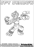 Skylanders Swap Force - SPY SHADOW - Coloring Page 1