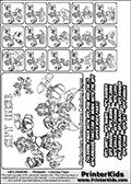 Skylanders Swap Force - MASTERS SPY SWAP - Coloring Page 4 Mixed Styles
