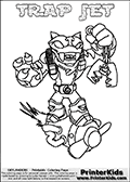 Skylanders Swap Force - TRAP JET - Coloring Page 3 Thick Line