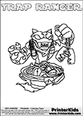 Skylanders Swap Force - TRAP RANGER - Coloring Page 3 Thick Line