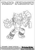 Skylanders Swap Force - TRAP SHADOW - Coloring Page 1