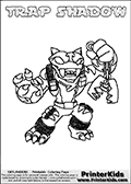 Skylanders Swap Force - TRAP SHADOW - Coloring Page 3
