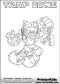 Skylanders Swap Force - TRAP ZONE - Coloring Page 1 Super Thin Line
