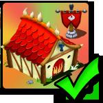 Positiv (+20%) fire Boost Building for Kærligheds dragons