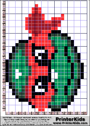 PrinterKids - Teenage Mutant Ninja Turtles Pattern #15