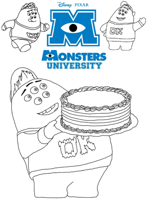 Print free colouring sheets with Scott Scouishy Squibbles From Monsters University
