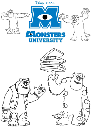 Print free colouring sheets with Sulley From Monsters University