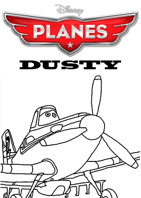Print free colouring sheets with Dusty From Planes