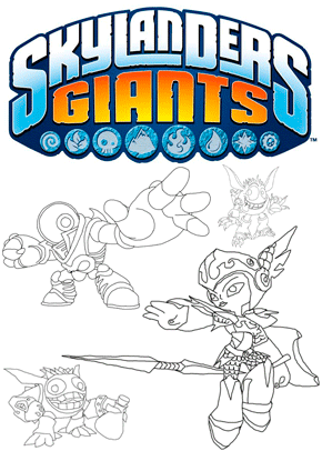 Skylander Coloring Pages Tree Rex