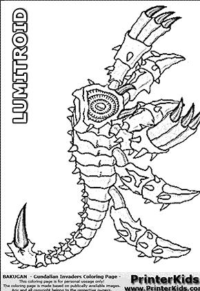 bakugan hydranoid coloring pages - photo#24
