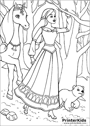 Barbie And The Magic Of Pegasus Coloring Pages Preview