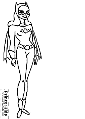 batgirl batman coloring page preview