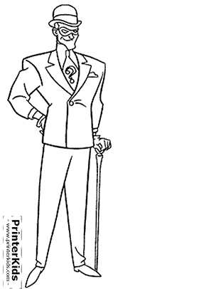 Riddler Coloring Pages Images