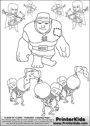 How to Draw Clash of Clans Troops