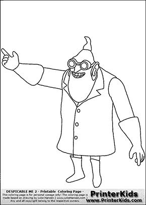 Despicable Me Dr Nefario Drawing Despicable Me 2 - Doctor