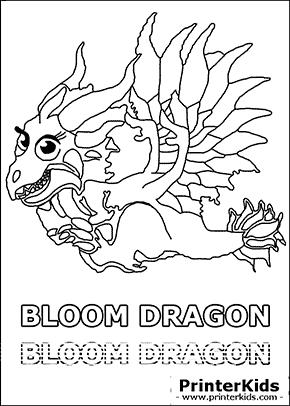 dragonvale bloom dragon juvenile coloring page preview
