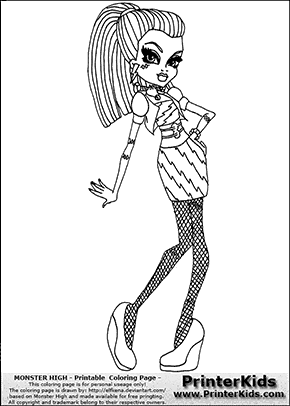 franki of high Colouring Pages