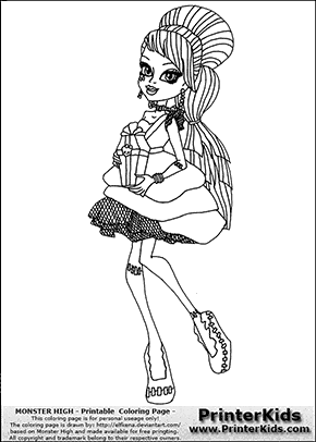 monster high frankie stein sweet costume coloring page preview
