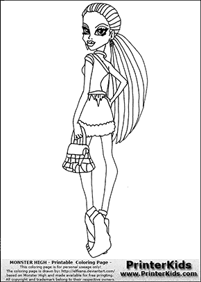Monster High - Abbey Bominable (Scaris Outfit) - Coloring Page Preview