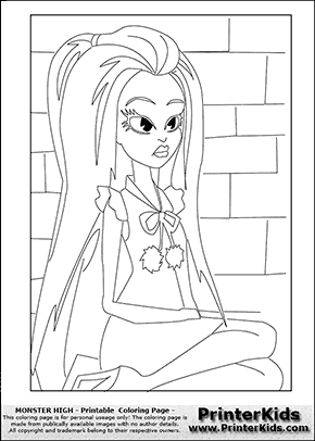 Abbey Bomible Free Coloring Pages