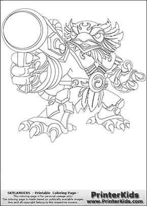 skylanders - Skylanders Coloring Pages Jet Vac