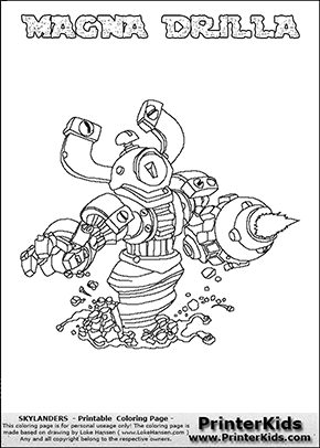 trigger happy coloring page - pin trigger happy coloring page skylanders spyros